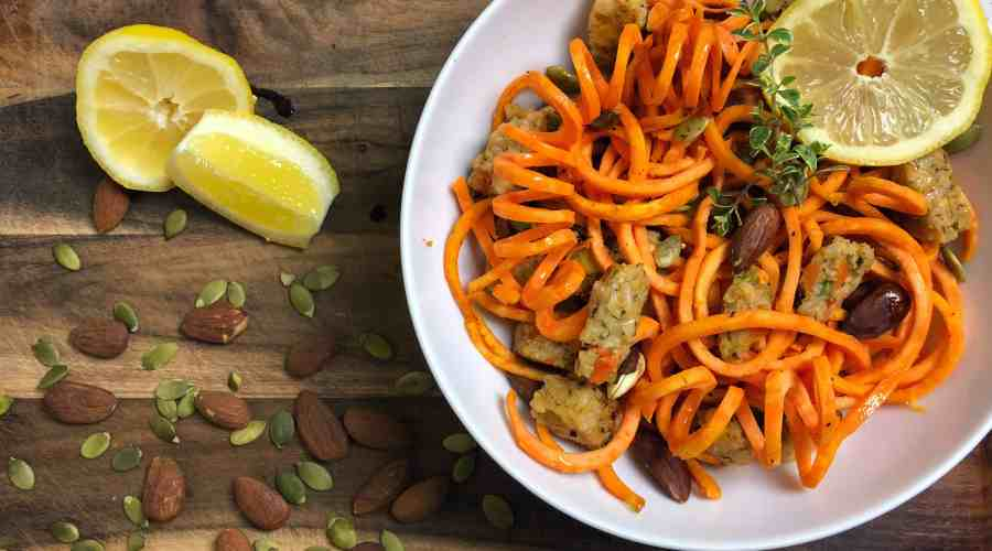 "Meatless Monday: Sweet Potato ""Spaghetti and Meatballs"""