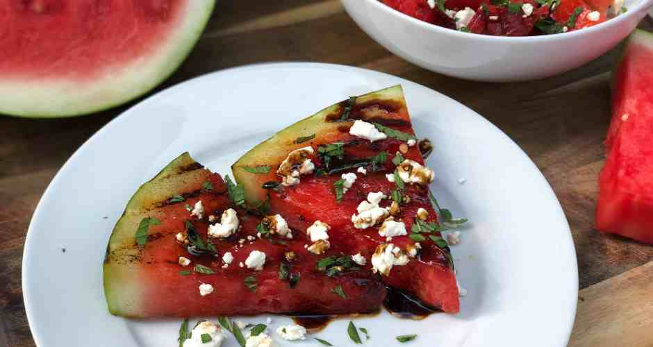 Grilled Watermelon Salad with adidas #Sponsored