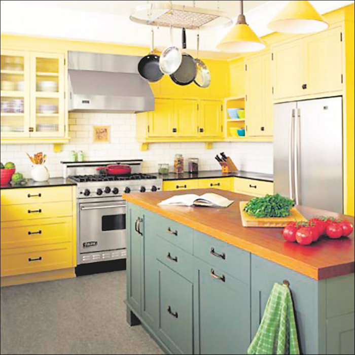 Ideas for modern spring decoration: yellow and green ...
