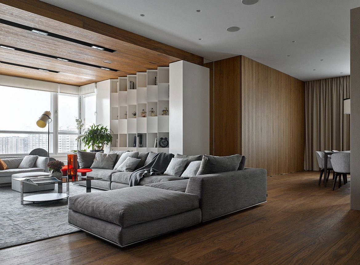 A Modern Apartment With Panoramic Views Of Moscow By