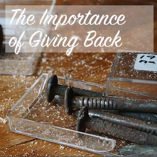The Importance of Giving Back | Home Economics for the Modern Age