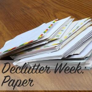 Declutter Week: Paper | Modern Home Economics