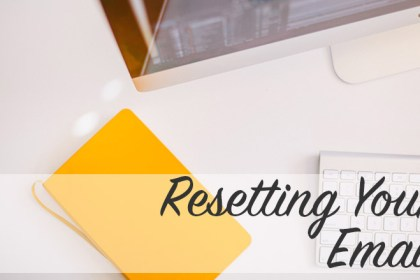 Resetting Your Email