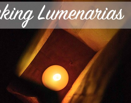 Making Lumenarias