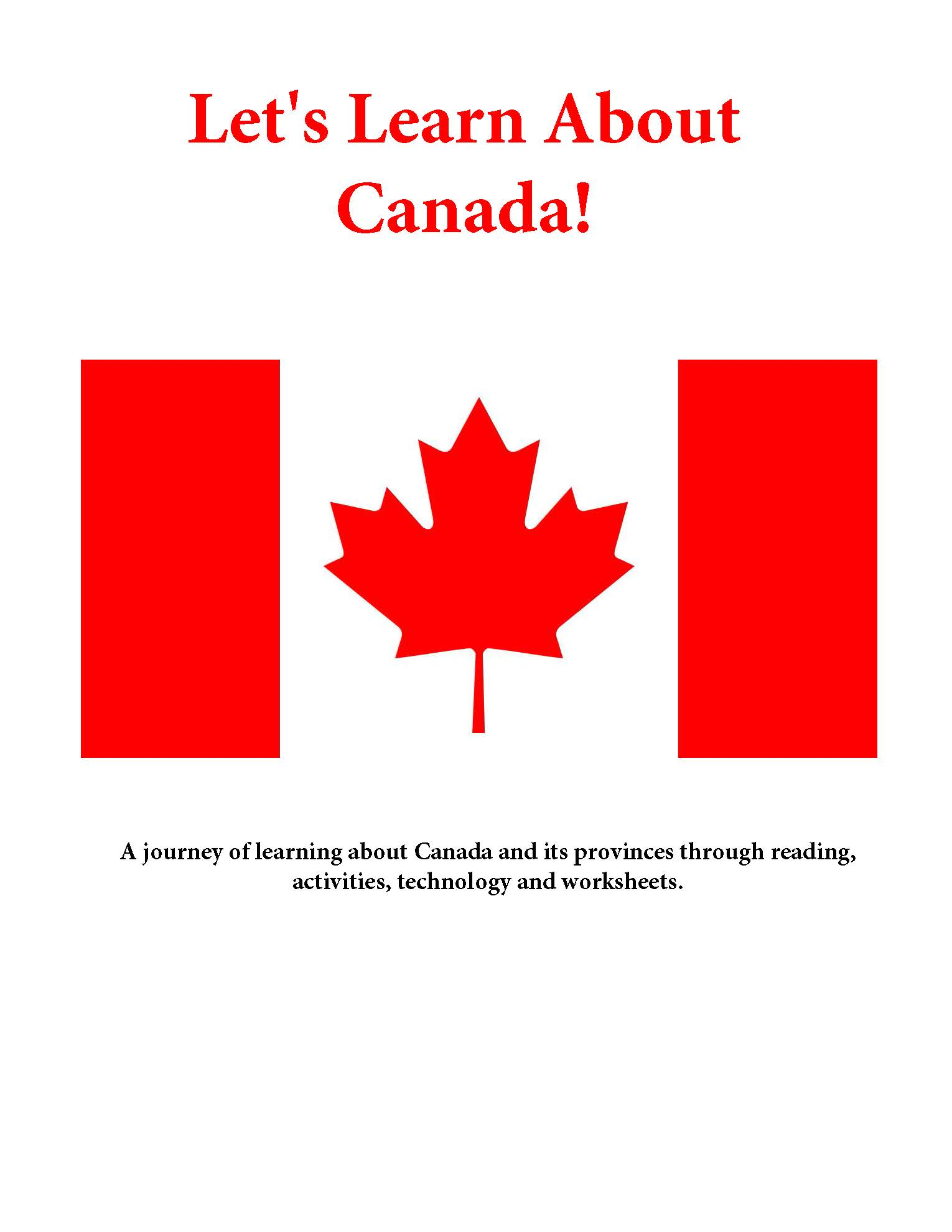 Let S Learn About Canada Theme Unit