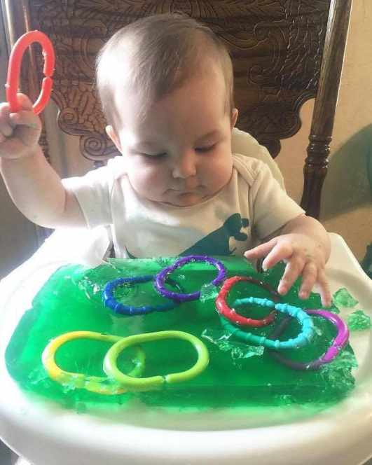 Jello Dig Activity For Babies and Toddlers