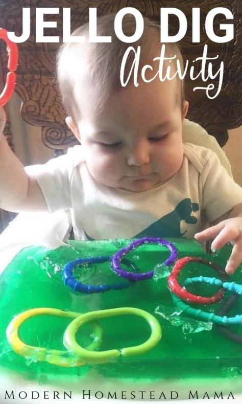 Jello Sensory Play For Babies & Toddlers | Modern Homestead Mama
