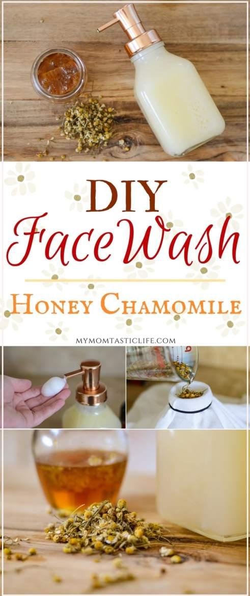 DIY Face Wash - Honey Chamomile Foaming Facewash