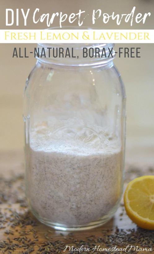 DIY Carpet Powder - Fresh Lemon and Lavender (All-Natural And Borax-Free)
