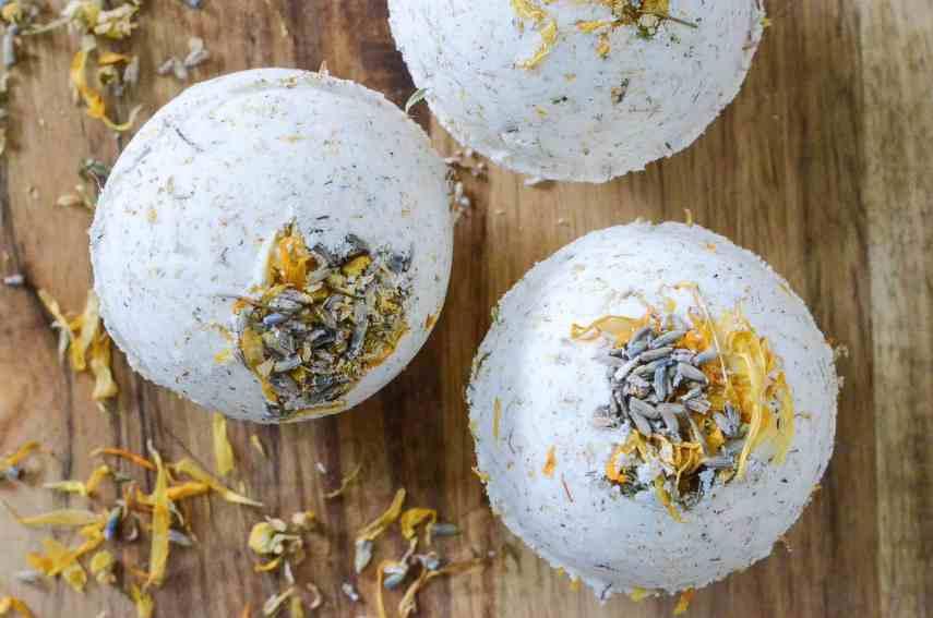 DIY Herbal Bath Bombs