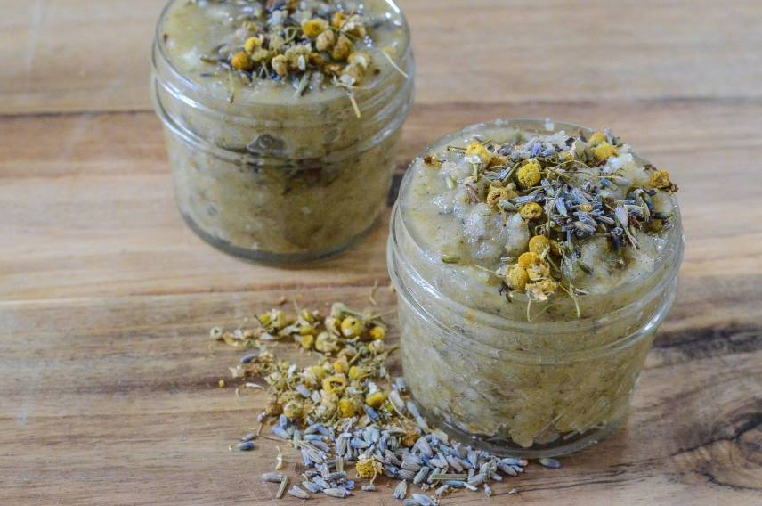 DIY Herbal Body Scrub - Lavender Chamomile