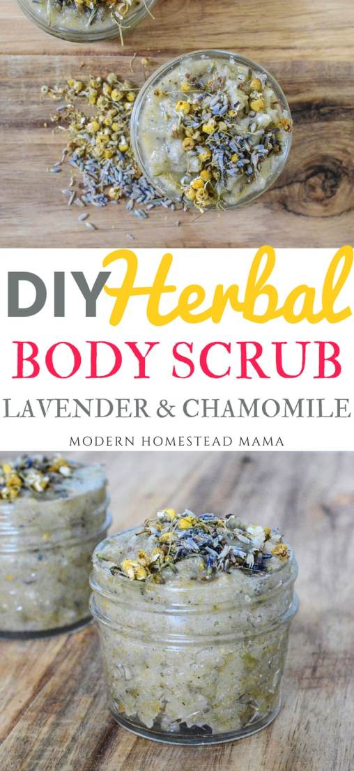 DIY Herbal Body Scrub - Lavender Chamomile