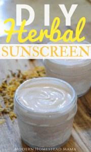 DIY Herbal Sunscreen