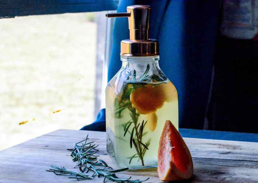 DIY Liquid Hand Soap - Rosemary Grapefruit