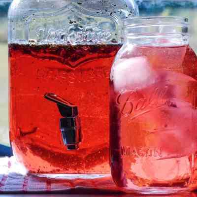 Herbal Sun Tea Recipe – Hibiscus Peppermint
