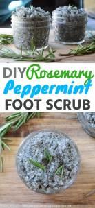 DIY Rosemary Peppermint Foot Scrub