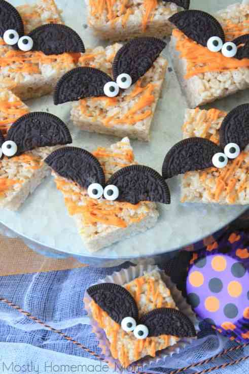 Spooky Bat Halloween Rice Krispie Treats