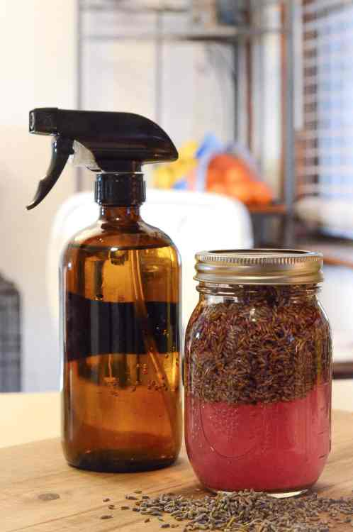 DIY Lavender Infused Vinegar For Cleaning