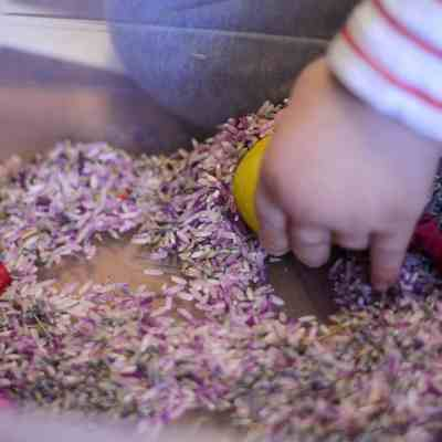 Floral Sensory Bin For Toddlers & Kids