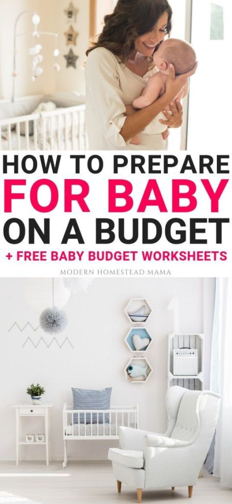 How To Prepare For Baby on a Budget | Modern Homestead Mama