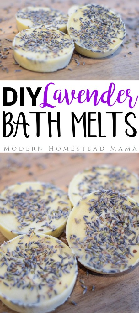 DIY Lavender Bath Melts | Modern Homestead Mama
