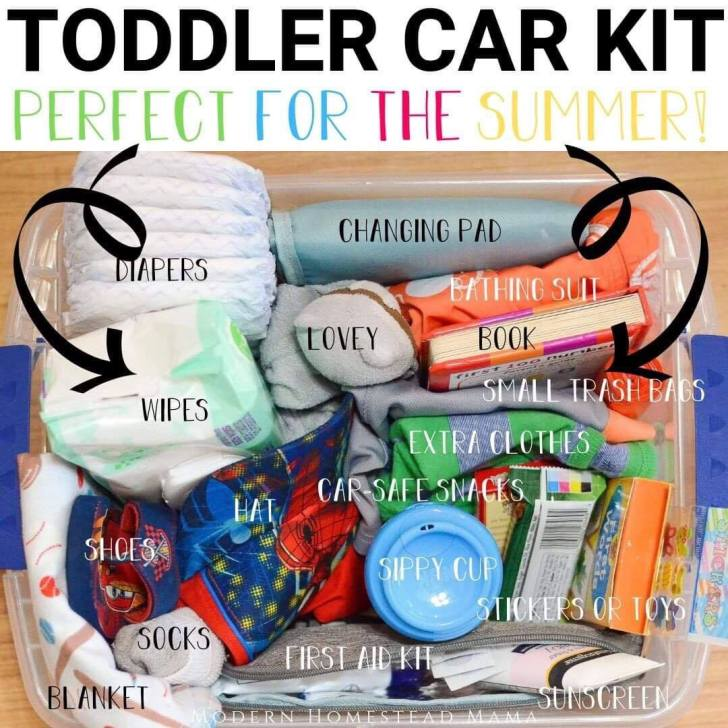 Toddler Car Kit: The Essentials Every Toddler Mom Needs In Her Car