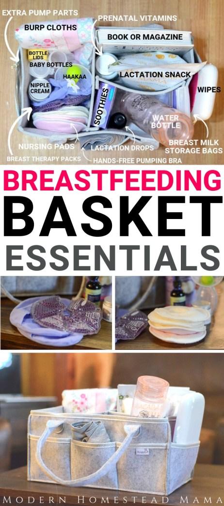 Breastfeeding Basket: The Essentials Every New Mom Needs | Modern Homestead Mama