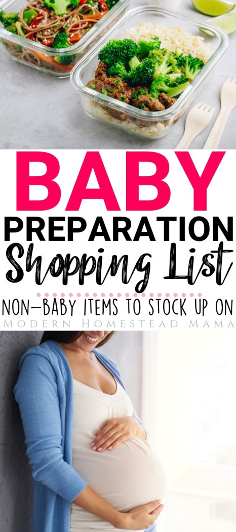 Baby Preparation Shopping List: Non-Baby Items To Stock Up On   Modern Homestead Mama