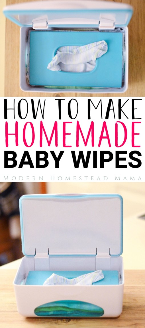 Homemade Baby Wipes (Reusable and Safe for Sensitive Skin) | Modern Homestead Mama