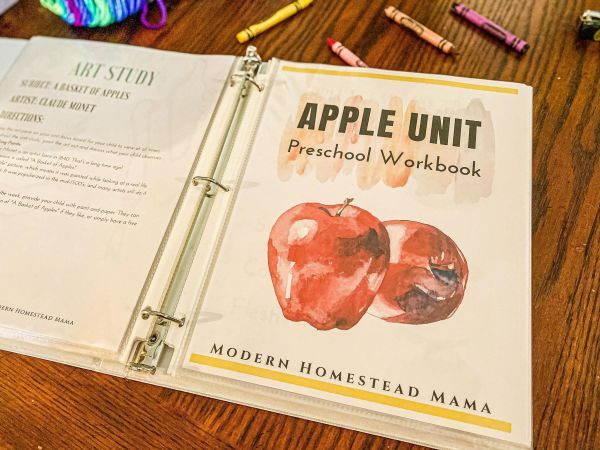 Apple Preschool Unit Workbook | Modern Homestead Mama