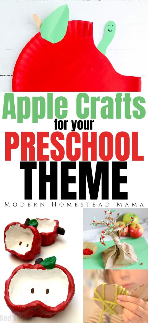 25 Apple Crafts & Art Projects for Preschool | Modern Homestead Mama