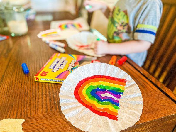 Easy Rainbow Suncatchers | Modern Homestead Mama