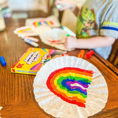 Easy Rainbow Suncatchers Craft