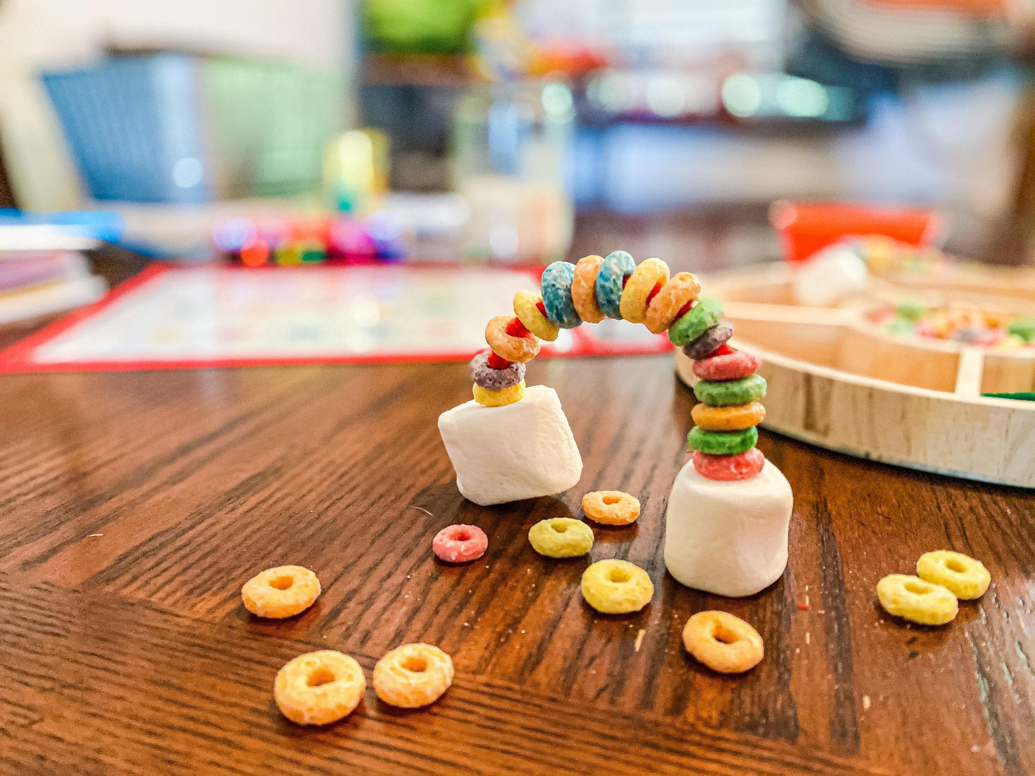 Froot Loop Rainbow Activity for Toddlers and Preschoolers