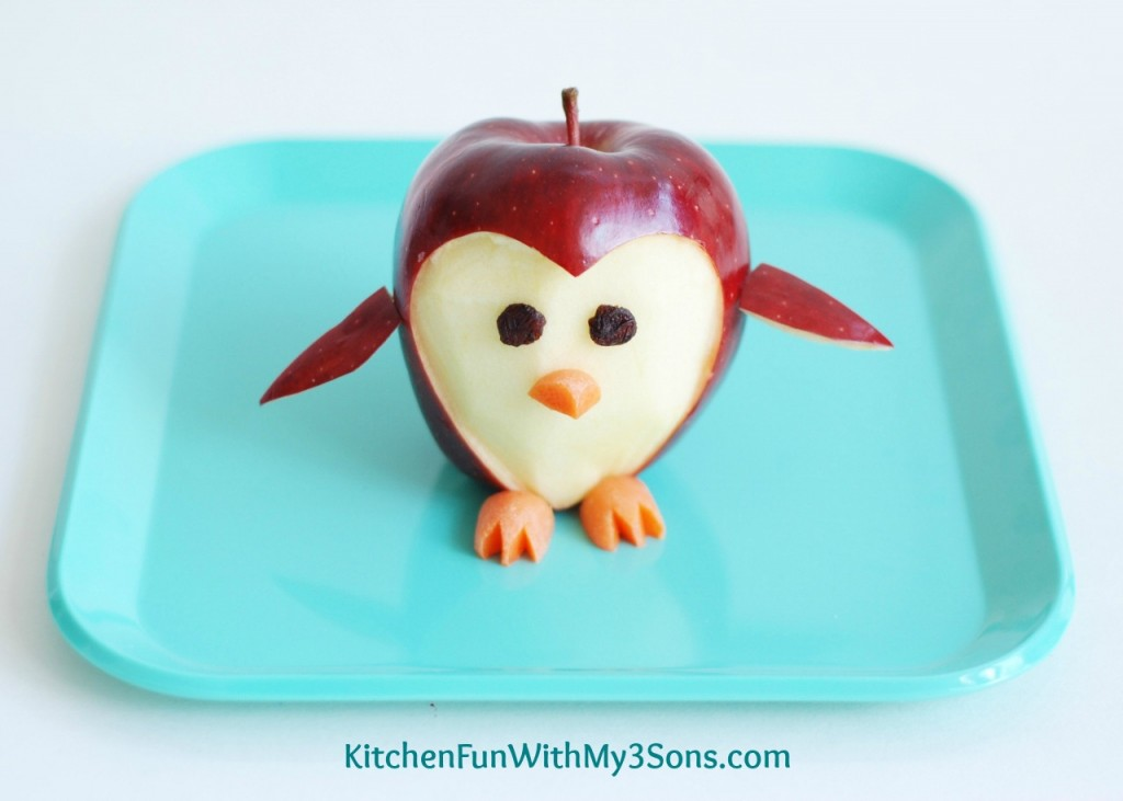 Kids Apple Food Art Penguin