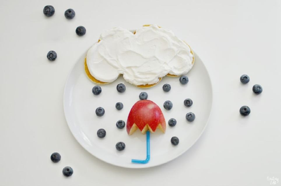 Kids Apple Food Art Rainy Day