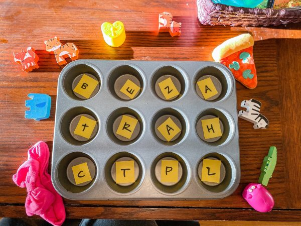Muffin Pan Letter Sound Sort