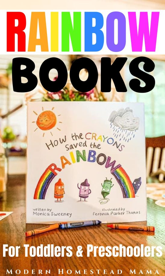 Rainbow Books for Preschoolers & Toddlers | Modern Homestead Mama