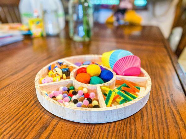 Rainbow Playdough Kit Invitation to Play | Modern Homestead Mama