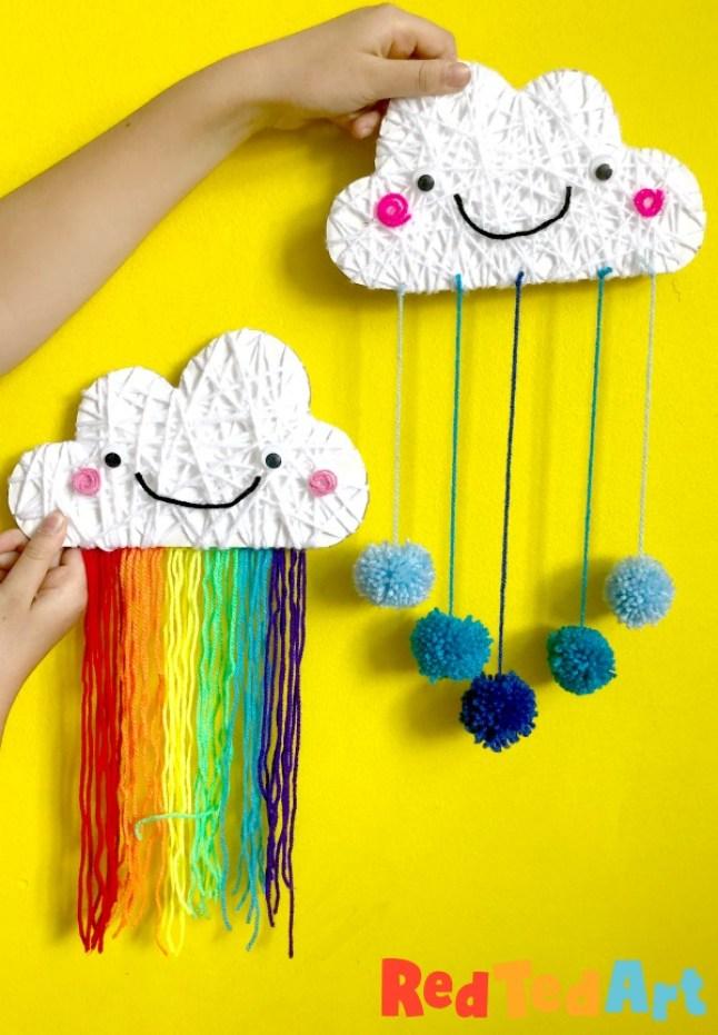Yarn Wrapped Cloud Rainbows