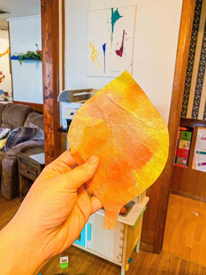 Fall Leaf Suncatchers Craft