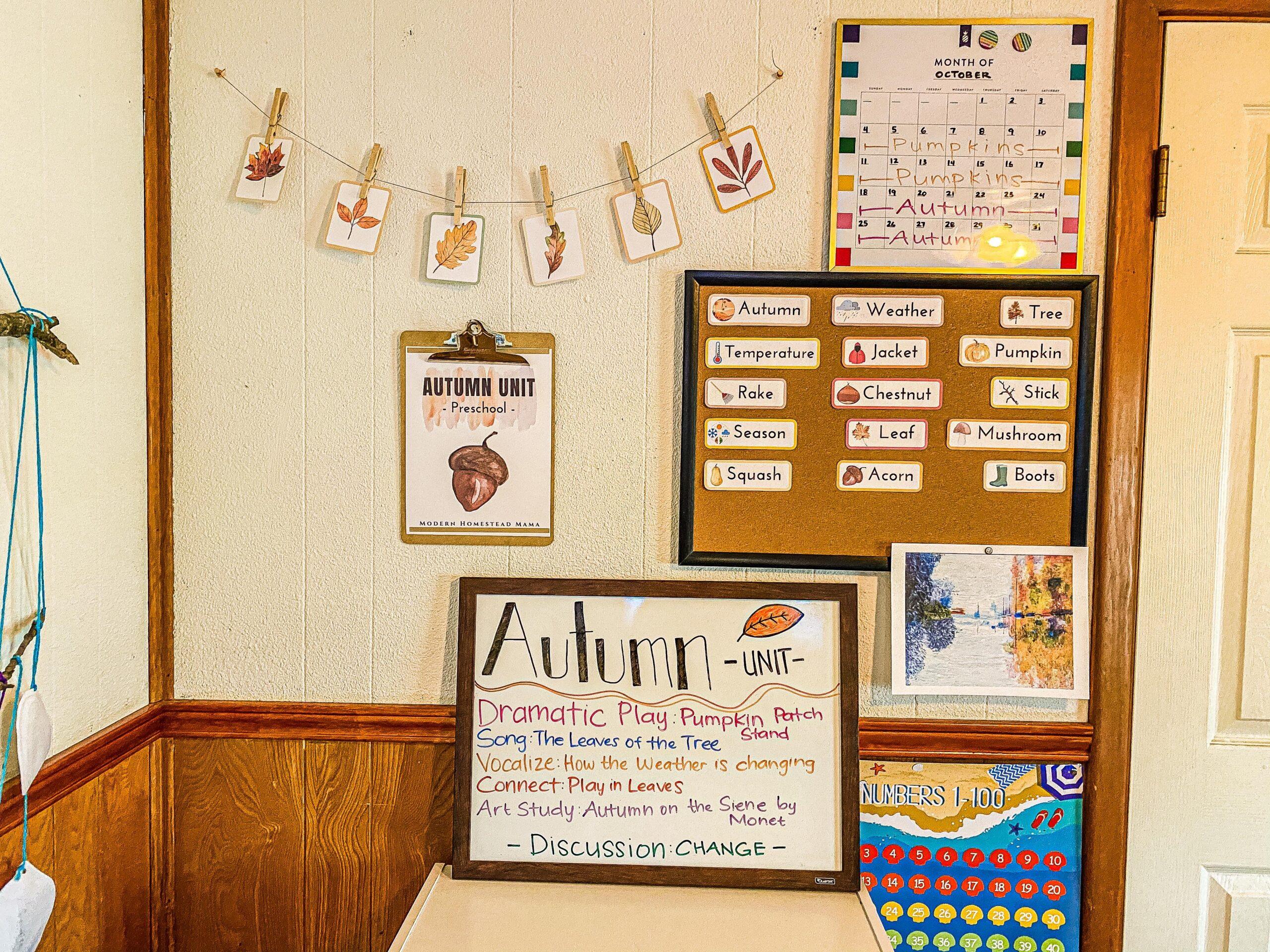 Autumn Preschool Theme Unit Study for Fall
