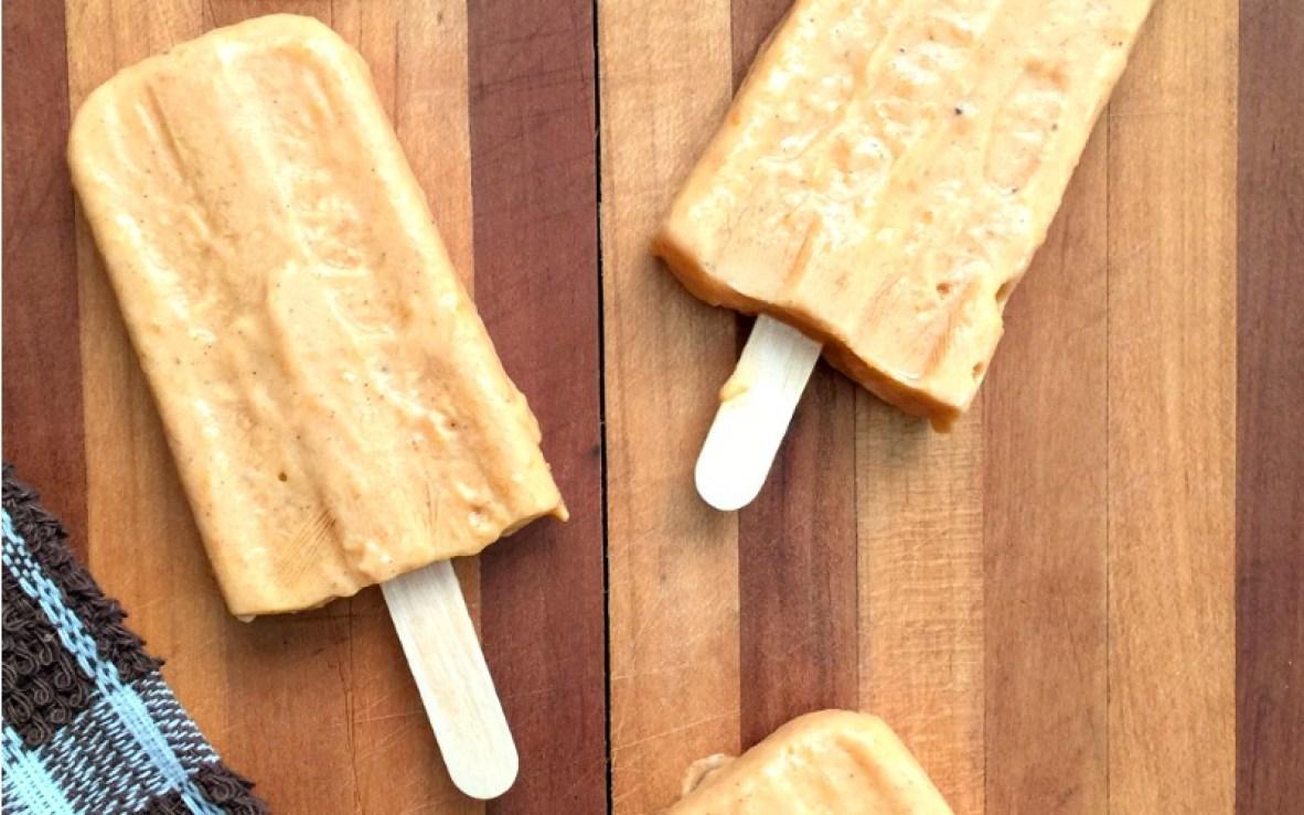 Creamy Pumpkin Popsicles