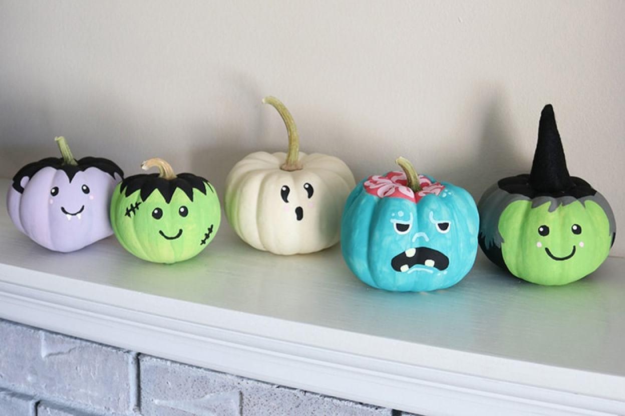 Easy Painted Pumpkins