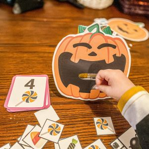 Feed the Jack-o-Lantern Printable Game