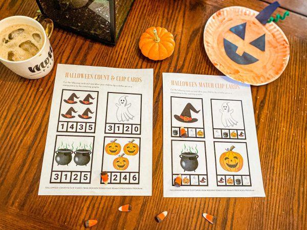 Halloween Match Clip Cards