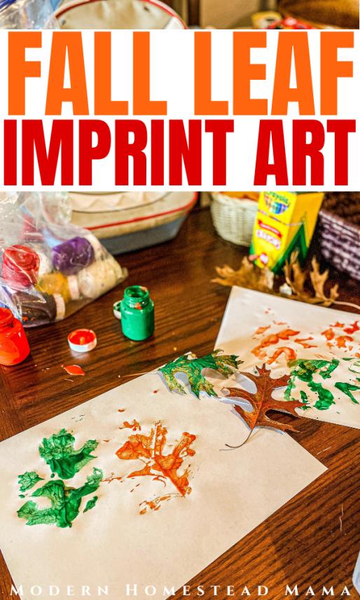 Painted Fall Leaf Imprint Art | Modern Homestead Mama