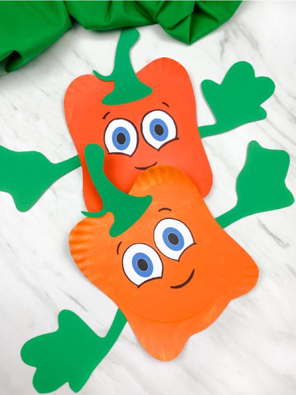 Paper Plate Spookly Pumpkin