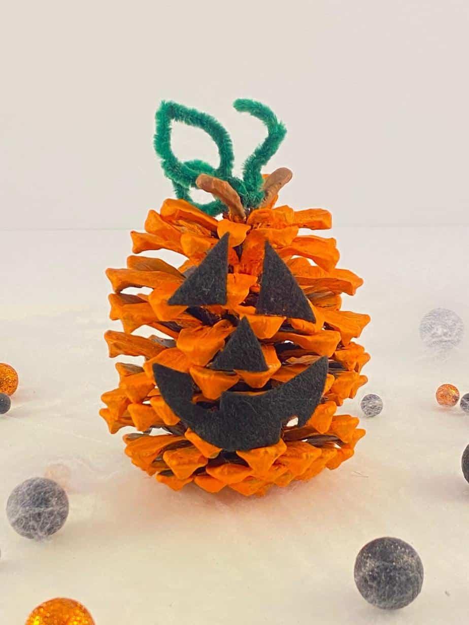 Pine Cone Pumpkin Craft
