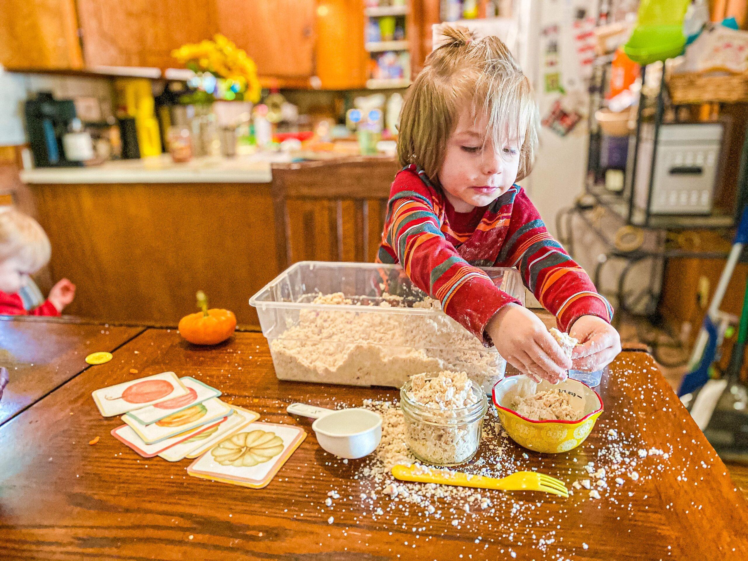 Pumpkin Moon Sand for Toddlers & Preschoolers